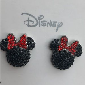 Disney Minnie Rhinestone Earrings NWT